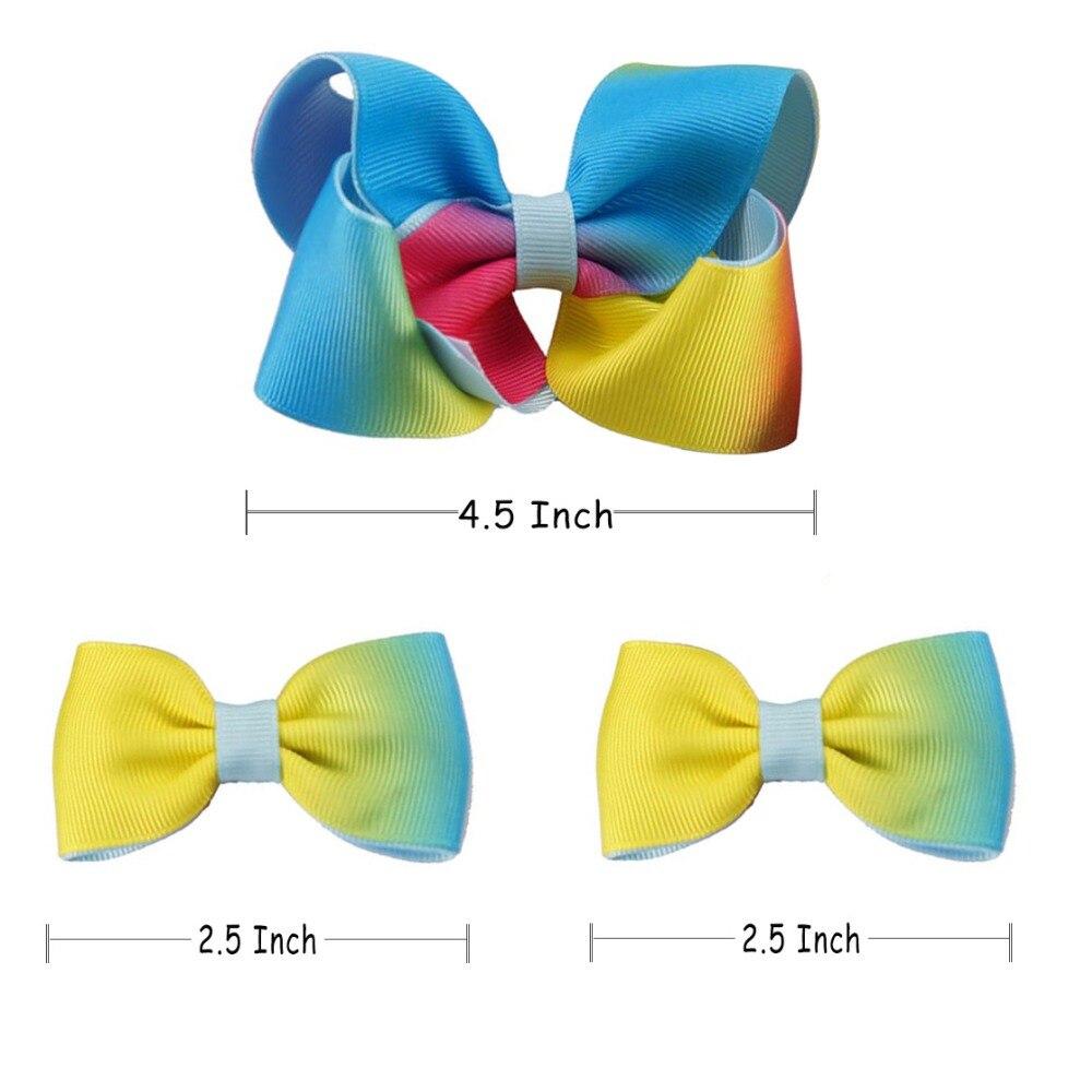 "Bow Hair Clip Ribbon 3/"" Vintage Retro Grosgrain Decorate Handmade bright yellow"