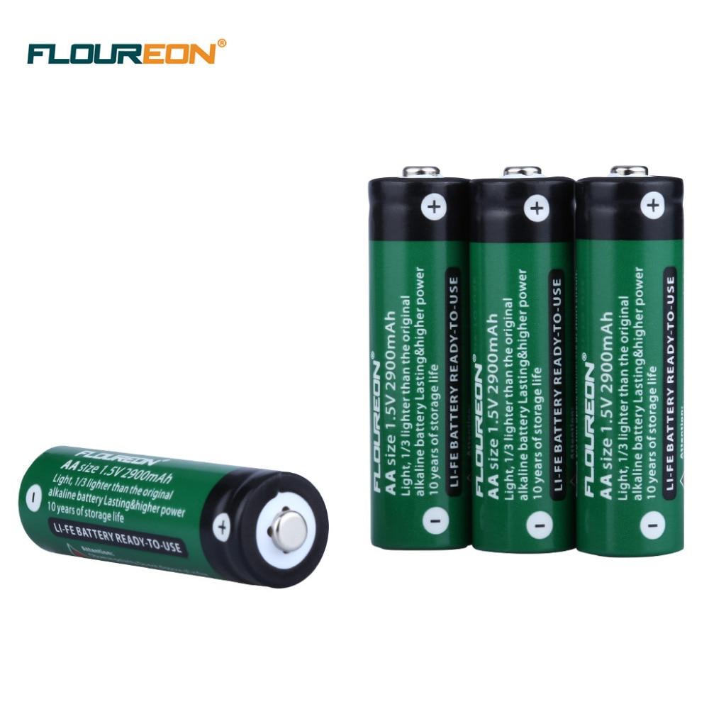 4 шт AA 15 В Li fe 2900 мАч перезарядки сухой Батарея GameControllers ручной электроники Мощность инструменты для путешествий кемпинг купить на AliExpress