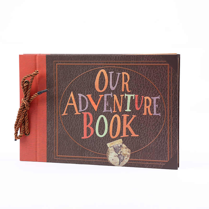 Adventure album diy retro kraft scrapbooking tether loose-leaf album album gifts for children