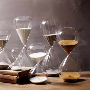 60 Minutes Timing Hourglass Height 24cm Creative Gift Glass Sand Timer Sandglass Golden Sand Home Decoration reloj de arena