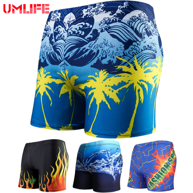 UMLIFE Swimwear Men Sexy Swimming Suit Trunks Bathing Beach Underwear Summer for male Swim short Quick Dry Surf Boxer Briefs