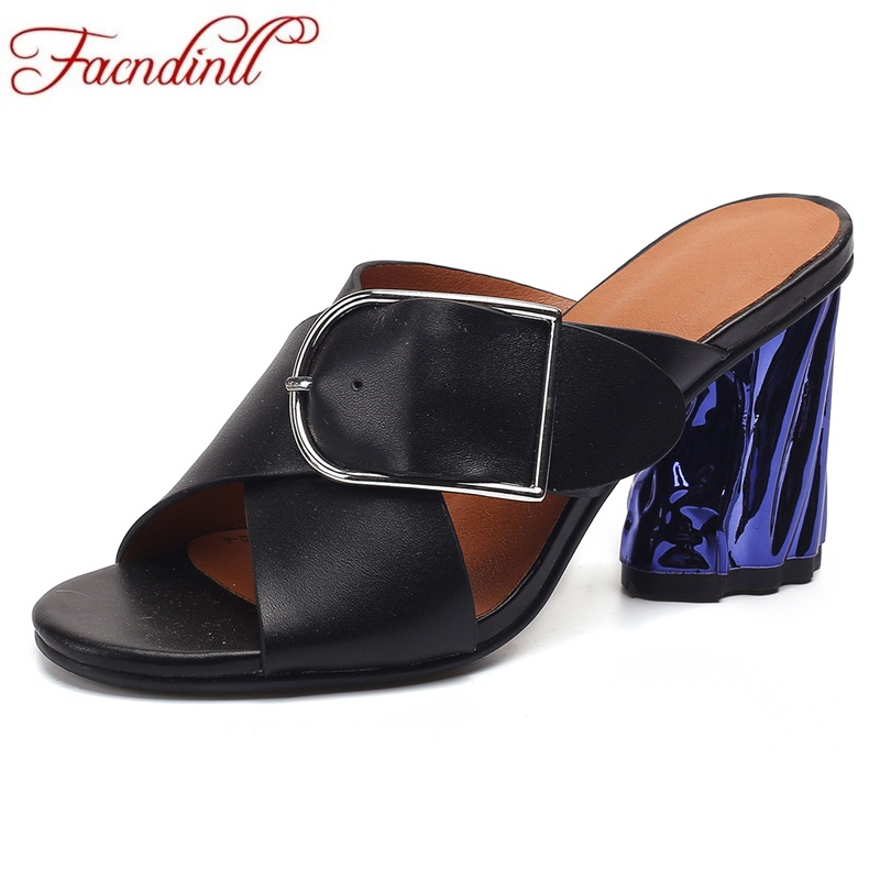 FACNDINLL genuine leather summer shoes woman fashion sandals 2018 new strange style heel open toe women ladies party dress shoes facndinll shoes 2018 new fashion summer