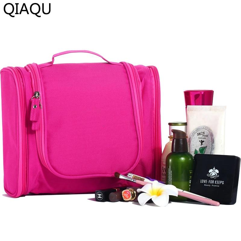 QIAQU 2017 High Quality Travel Cosmetic Bags Fashion Waterproof nylon Multifunction Makeup Storage Bag organizer For Men Women