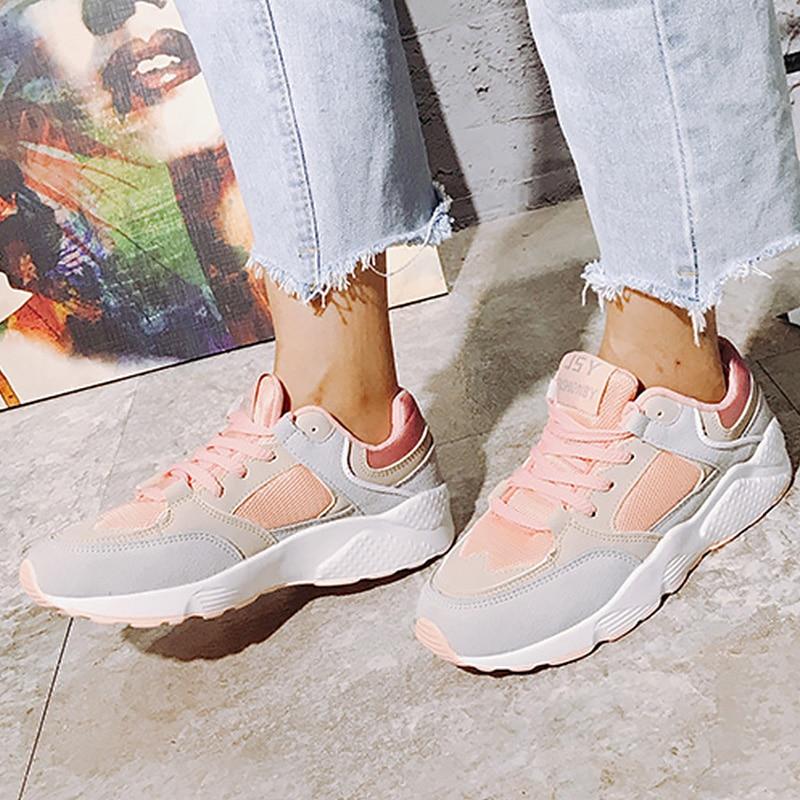Simple À Baskets Mélangées purple Chaussures Coton Femmes Zapatos Plateforme Couleurs Mode Tissu Style Mujer lightyellow Décontractées Peu Massage Profonde Pink IxSq0SCwB