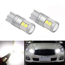 2x T10 светодиодный W5W samsung автомобильный габаритный фонарь лампы для Infiniti Q50 Q60 Q70 Q80 QX30 QX50 QX56 QX60 QX70 QX80 G25 G35 G37