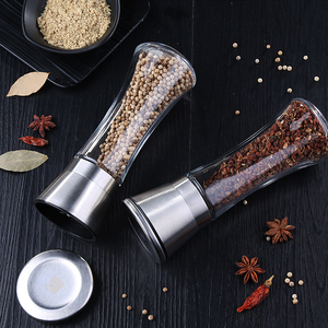 Image 5 - Premium Stainless Steel Salt and Pepper Grinder Shakers Glass Body Spice Salt And Pepper Mill with Adjustable Ceramic Rotor