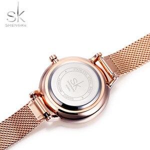 Image 3 - Relojes SK para Mujer, a la moda relojes de cuarzo, Reloj Starry Sky, Reloj de pulsera para Mujer, Reloj femenino de marca de lujo, Reloj de Mujer