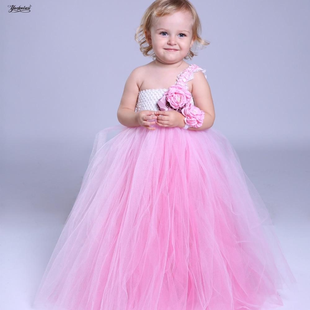 Ballet TUTU dresses Pink andRose red Flower Girl Tutu Dress Wedding Tulle Dress Girlss Robe Kids Dress Dance performances,