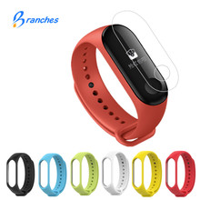 ФОТО silicone for xiaomi mi band 3 bracelet strap miband 3 colorful strap wristband replacement smart band for mi band 3 accessories