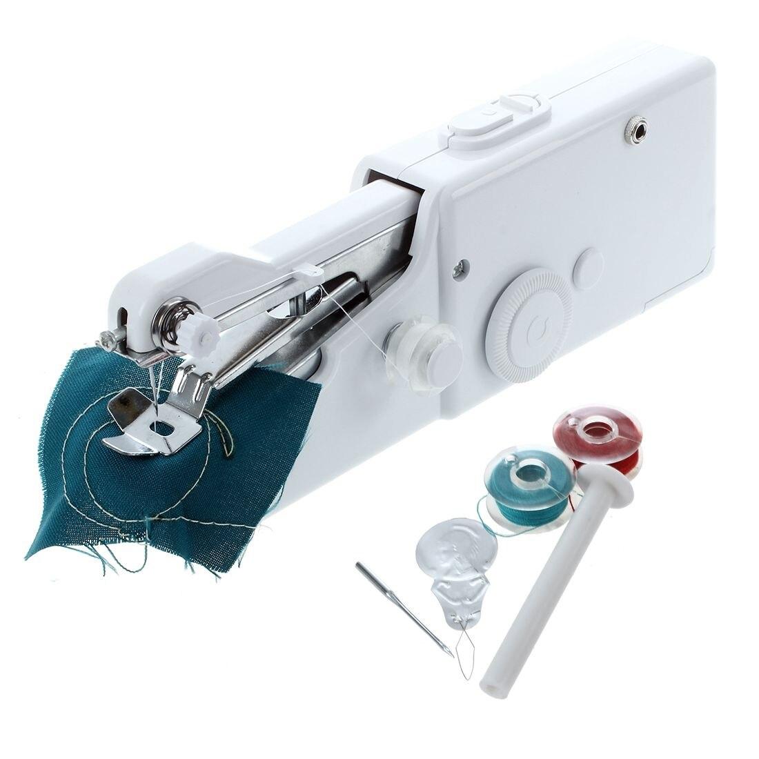 2017 Mini Portable Handheld sewing machines Stitch Sew needlework Cordless Clothes Fabrics Electric Sewing Machine Stitch Set maquina de coser de mano