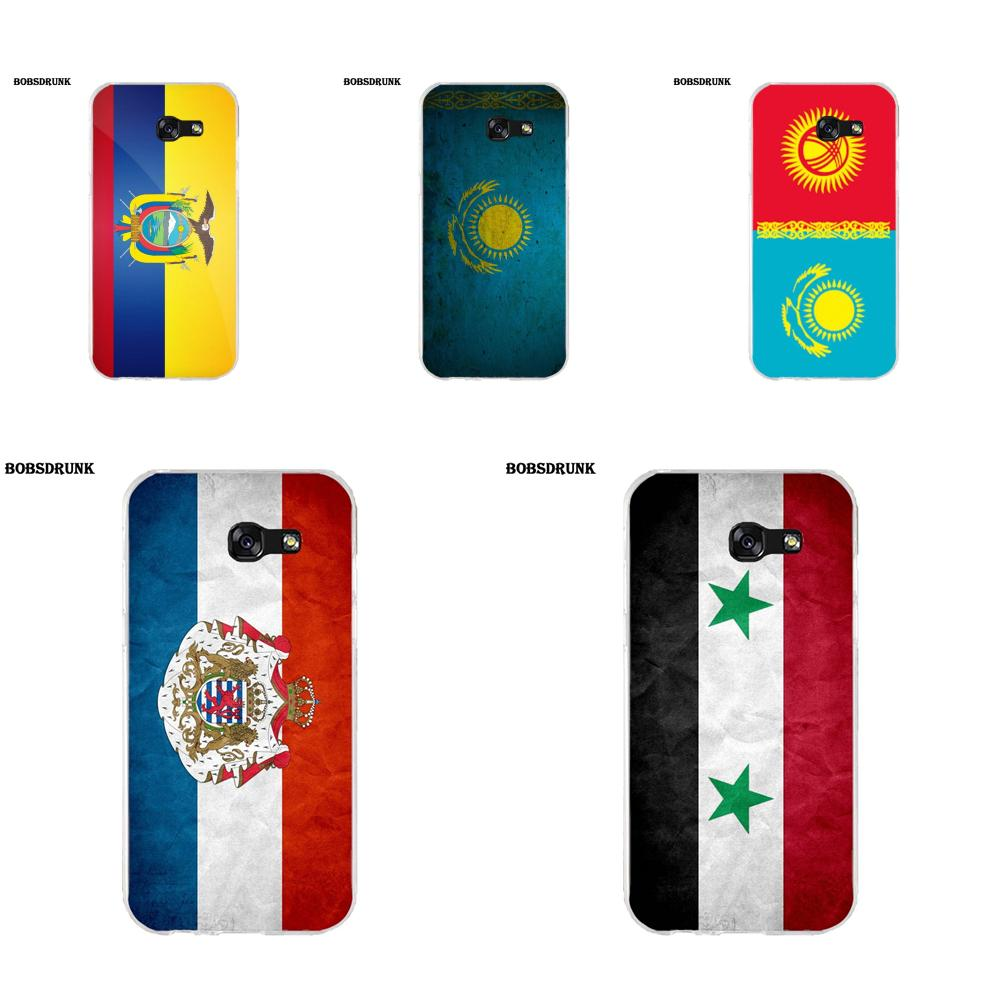 EJGROUP TPU <font><b>Case</b></font> Cover For Samsung Galaxy A3 A5 A7 J1 J2 J3 J5 J7 2015 2016 2017 <font><b>Kazakhstan</b></font> Flag Other Country Flags image