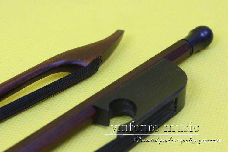 one 3#  Brazilwood  Baroque   violin bow  High Quality 1pcs   4/4 Violin Bow Style bone Straight  black color horse hair 3 pcs 4 4 violin bow baroque ebony straight high quality r3 1