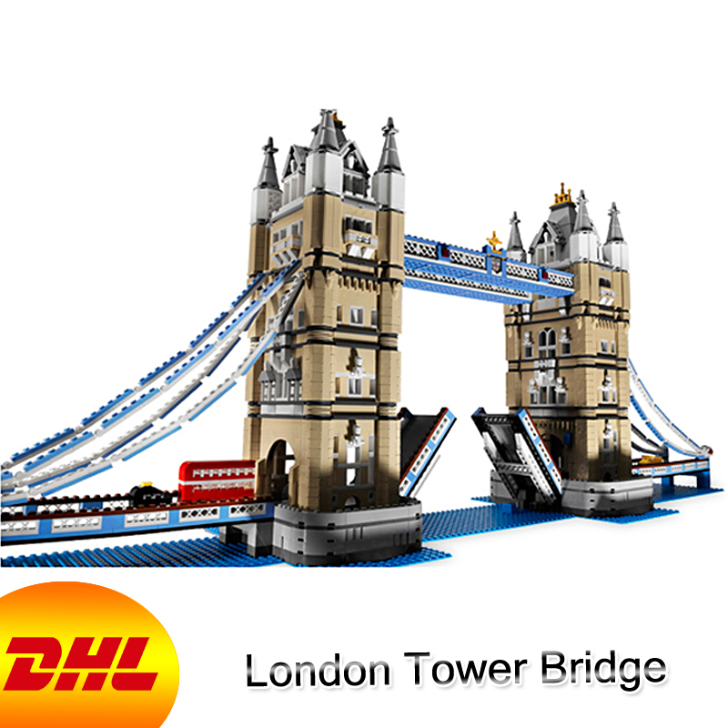 HF City Street Figures 4295Pcs London Tower Bridge Model Building Kits Blocks Bricks Toy For Children Gift Compatible With 10214 10646 160pcs city figures fishing boat model building kits blocks diy bricks toys for children gift compatible 60147