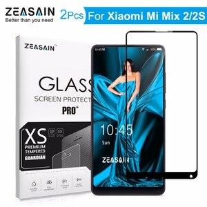 2 шт. Оригинальная защитная пленка ZEASAIN для экрана для Xiaomi Mi Mix 2 2 S Xiomi Mi Mix2 S Mix2S закаленное стекло 9H ультратонкая стеклянная пленка