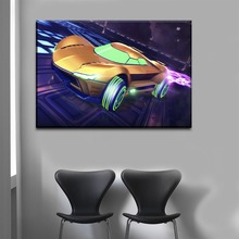 Modern Canvas Wall Picture For Living Room Home Decor 1 Piece Rocket League Game Abstract Car Gunship Painting Print Type Poster
