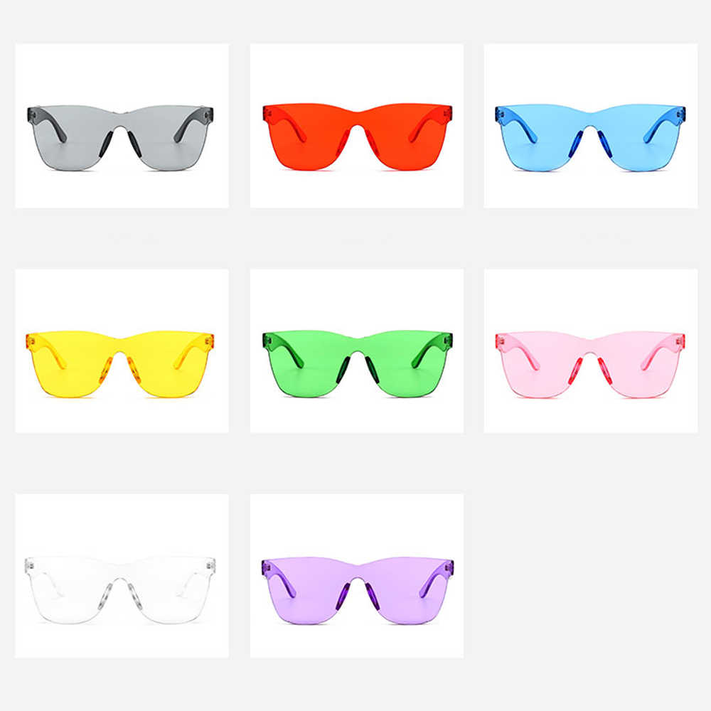 af748104006 Kachawoo one piece lens sunglasses transparent frame candy color green blue  purple red sun glasses women fashion accessories