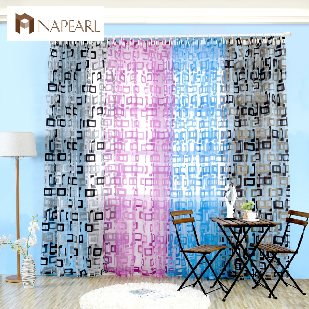 Japanese panel curtains - Organza Window Curtains Readymade Sheer Curtain Panels Tulle Short Curtain Square Modern Simple Design Curtains For