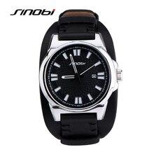 Recién llegado de lujo moda Casual Brand Men Sports relojes de cuarzo con calendario correa de cuero militar reloj de pulsera para hombre Relogio
