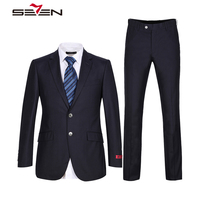 Seven7 2018 Business Suit Men Slim Fit Blue Men S Dress Suits Formal Prom Slim Fit