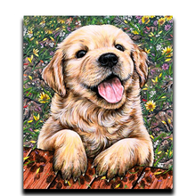 Diamond cross stitch painting Home Decoration Square tablecloth \ Round diamond mosaic embroidered Full Cute dog
