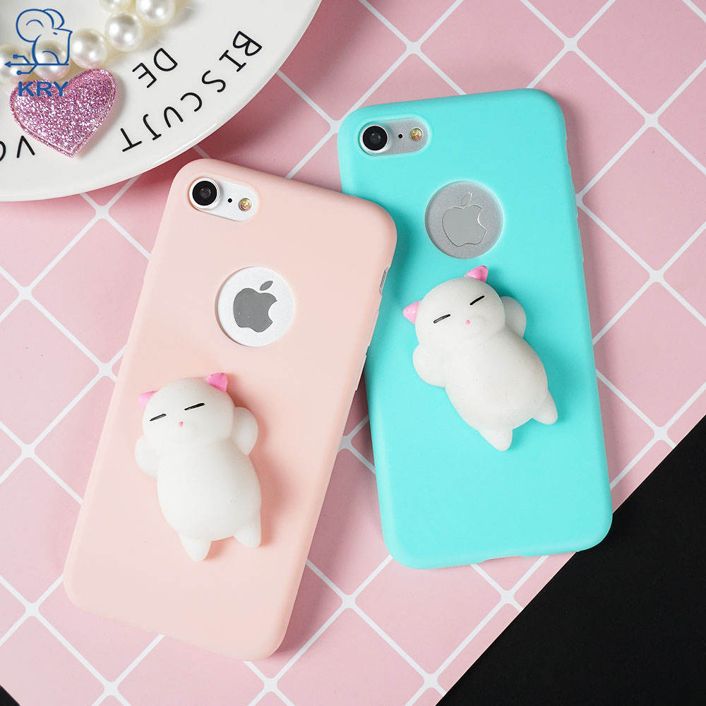 KRY Soft Candy TPU Phone Cases For iPhone 6 Case X 6s 8 Plus Cover For iPhone 7 Case 7 Plus 5 5S SE Cases Cute Silicon Capa