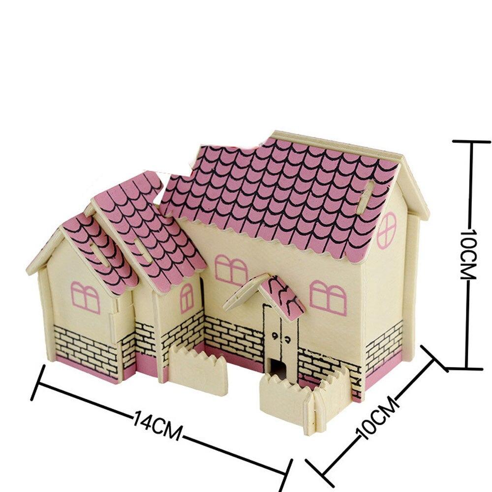 2017 миниатюрный кукольный домик мебель 3D Кукольный дом деревянный миниатюрной мебели комплект игрушки для детей подарок путешествие во вре...
