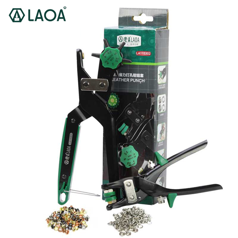 LAOA Japan Style Punching pliers Labor-saved Hole Puncher Hollow Hole Stamp Puncher 6 Size Head 2.0 ~ 4.5mm 6 Sizes