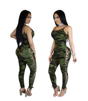 One Pieces Sleeveless Camouflage Jumpsuit Yoga Suit Sexy Women Compression Sport Clothing Quick Dry Women Yoga Set