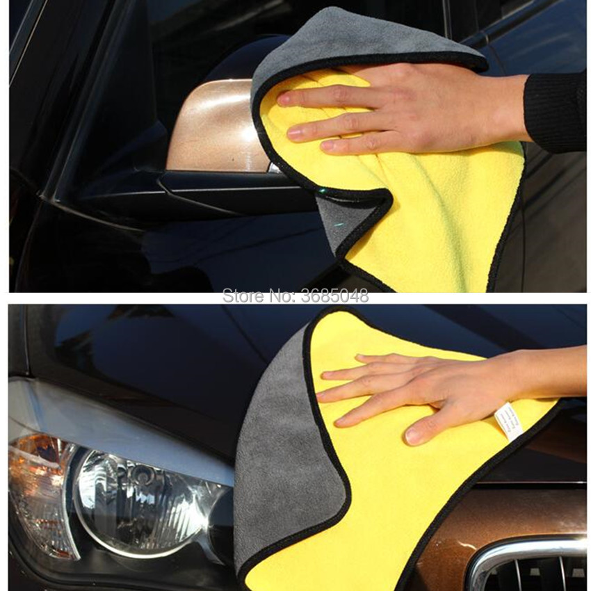 Bright Car Care Cloth Detailing Car Wash Towel For Fiat Volvo V70 Bmw E61 Touareg Skoda Rapid Fiat Bravo Mercedes W210 Nissan Qashqai Exterior Accessories