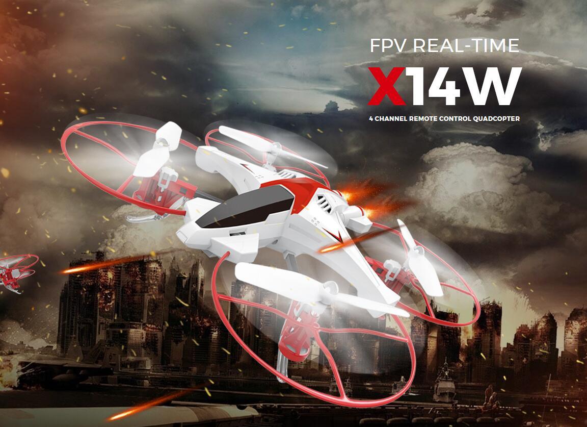 2017 New SYMA X14W WIFI FPV RC drone 2.4G 6 axis Gravity Control Flight-track remote control helicopte With 720P Wifi HD Camera syma x5uw fpv rc quadcopter rc drone with wifi camera 2 4g 6 axis mobile control path flight vs syma x5uc no wifi rc helicopter