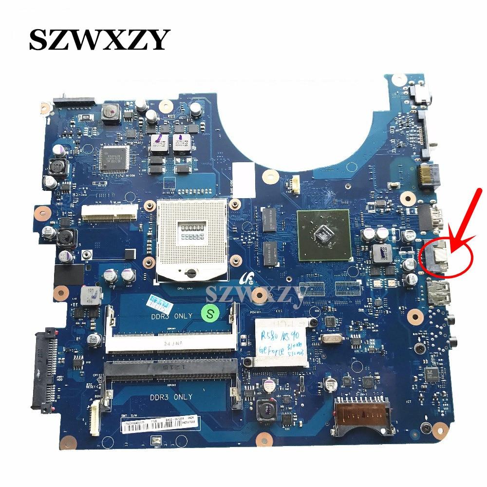 For Samsung R580 R540 R590 Laptop Motherboard BA92 06129A BA92 06129B GT310M 512MB DDR3 HM55 Full
