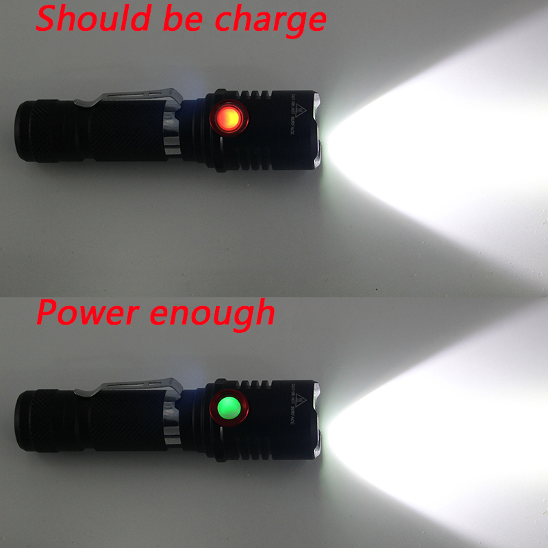 Litwod Z20 Micro USB Rechargeable LED flashlight XML-T6 L2 Zoomable 18650 rechargeable battery flashlight torch 1 Mode ON / OFF