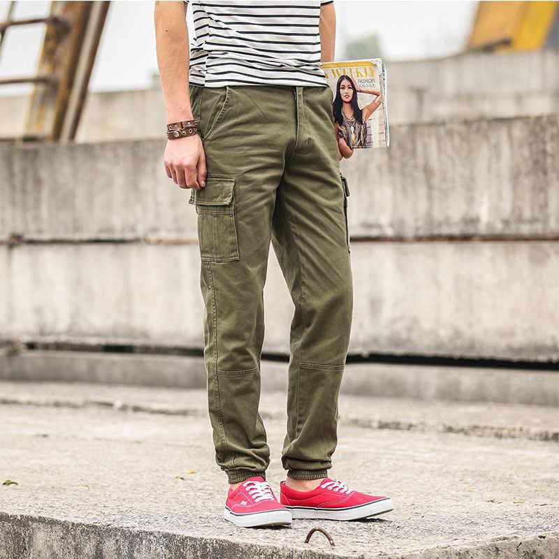 2019 Army green Cargo Broek mannen Hip Hop Casual Camouflage Broek Mode Potlood Broek Streetwear Joggers Joggingbroek