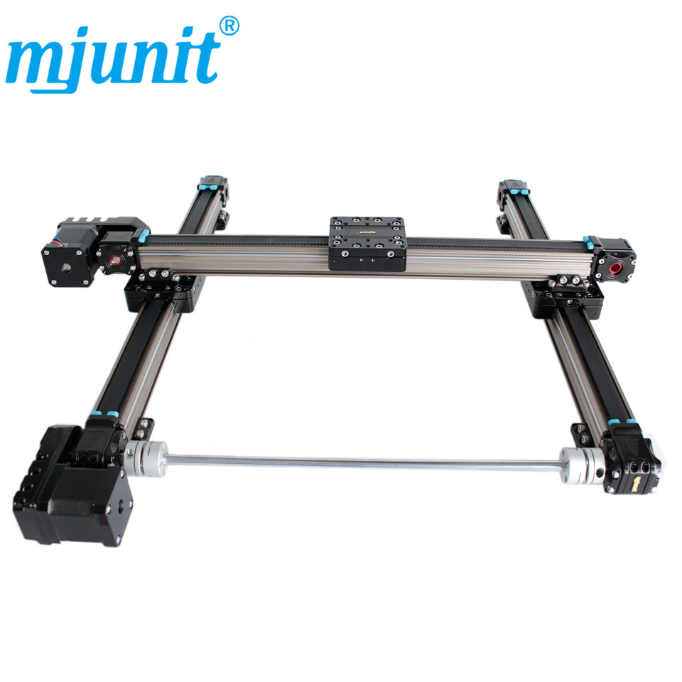 Belt drive linear guide rail for cnc laser cutting machine Double axis linear guide rail linear axis with toothed belt drive belt drive linear rail reasonable price guideway 3d printer linear way