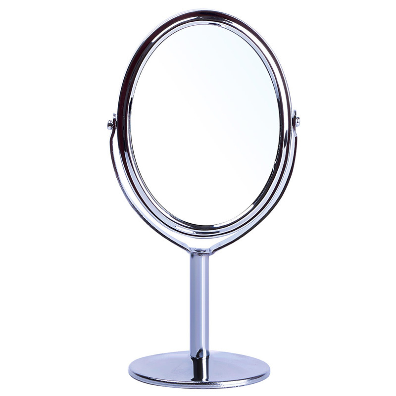 Superior Women Oval Shape Make Up Mirror Double Dual Side Rotating Cosmetic Desk  Stand Table Mirror Makeup Compact Mirror #68748 In Makeup Mirrors From  Beauty ...
