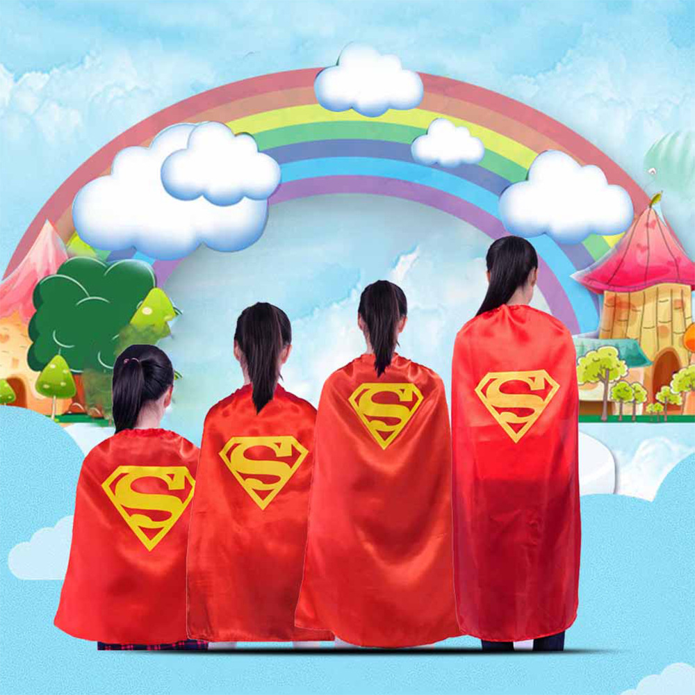 Children Cartoon Superhero Superman Capes for Kids Costumes Cosplay ...