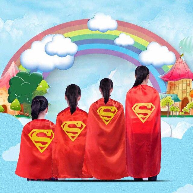 children cartoon superhero superman capes for kids costumes cosplay