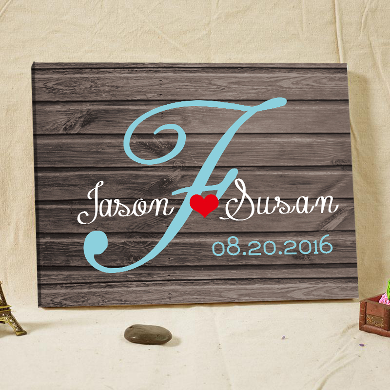 Rustic Wedding Guest Book Fingperint Tree Framed Wall Art Home Decorations Engagement Gifts Canvas Printing Supplies Souvenirs