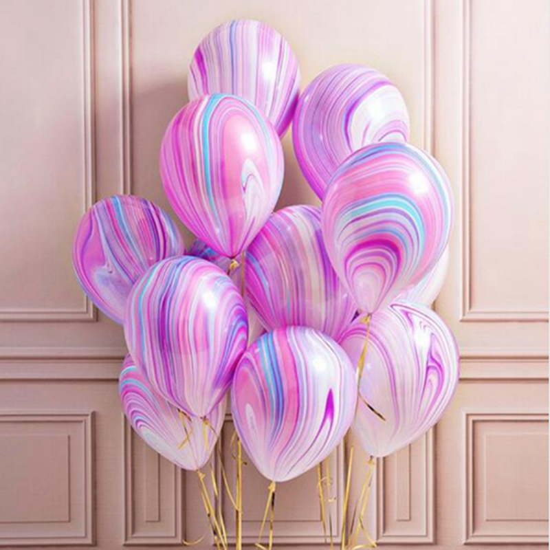 20Pcs 12inch Wedding Decoration Agate Marble Balloons Colorful Latex 3.2g for Baby Shower Birthday Party Decor Supplies