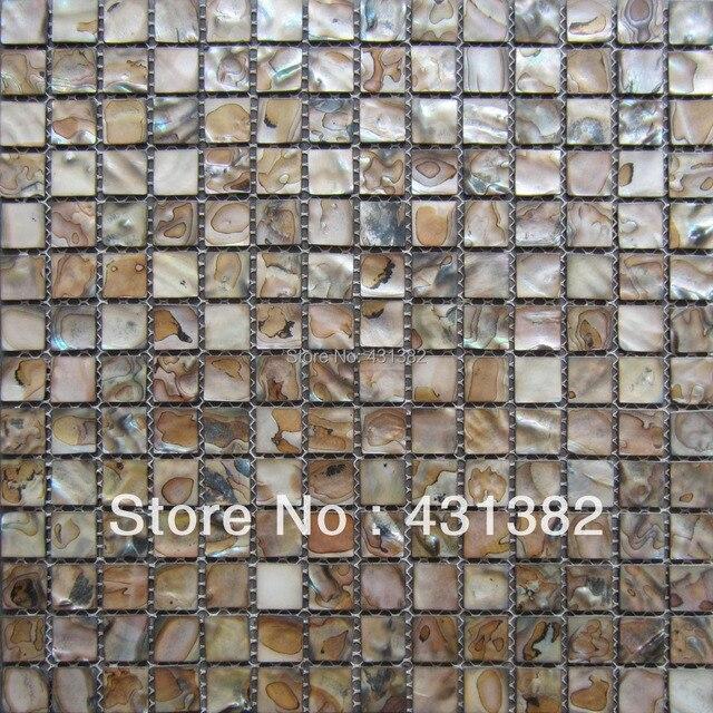 2015 style hyrx shell mosaic sea flower shell dye black colorshell mosaic tile