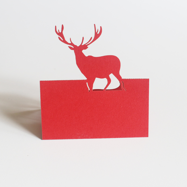 50 pcs Stag Place Cards/party decoration/woodland deer food tent