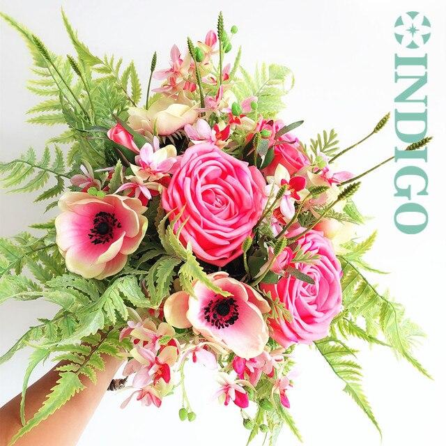Indigo Exclusive S Diy Bouquet Pink Rose Anemone Lavender Arrangement Wedding Bride