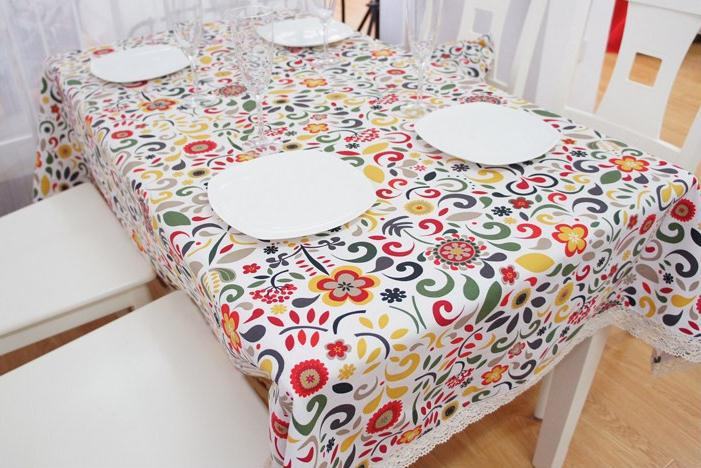 Wonderful Modern American Country Style Colorful Vintage Tablecloths Fashion Boho Floral  Table Cloth Elegant Table Covers For