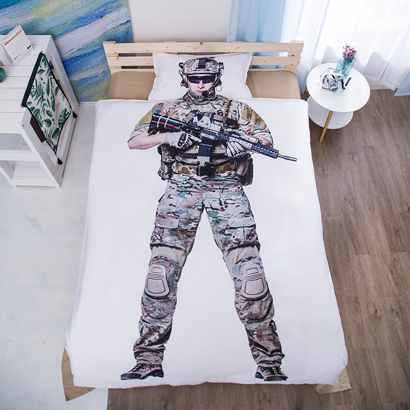 Bedding Set sanding Special forces muscle men boxers astronauts Weird twin 3pcs soft Duvet Cover Sets Bed Sheet Set PillowcaseBedding Set sanding Special forces muscle men boxers astronauts Weird twin 3pcs soft Duvet Cover Sets Bed Sheet Set Pillowcase
