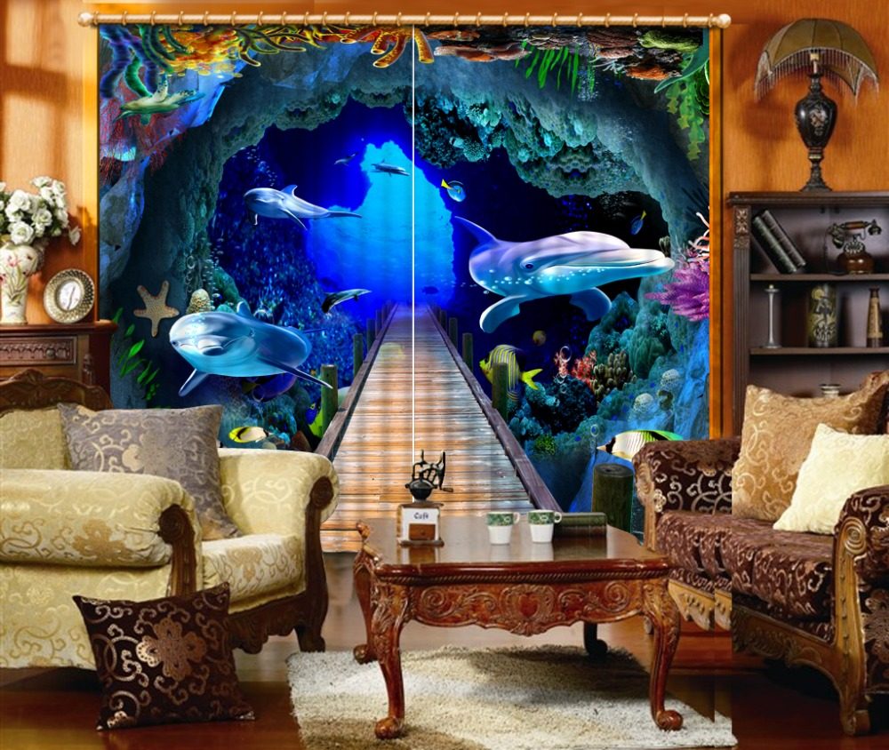 window curtain living room Custom Underwater World curtains for living room bedroom blackout curtains 2019 The New window curtain living room Custom Underwater World curtains for living room bedroom blackout curtains 2019 The New