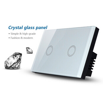 2 gang 1 way glass touch panel wall switch and white interruptor de luz touch light switch livolo remote switch with crystal glass panel wall light remote touch led indicator 3gang 1 way vl c503r 11 12 without remote