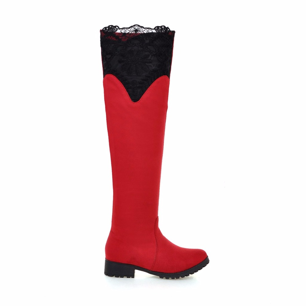Compare Prices on Thigh High Red Leather Boots- Online Shopping ...