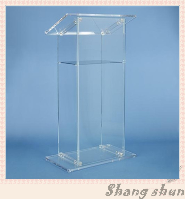 Customized Acrylic Lectern, Clear Acrylic Church Lectern, Clear Acrylic Church Pulpit, Clear Acrylic Church Podium