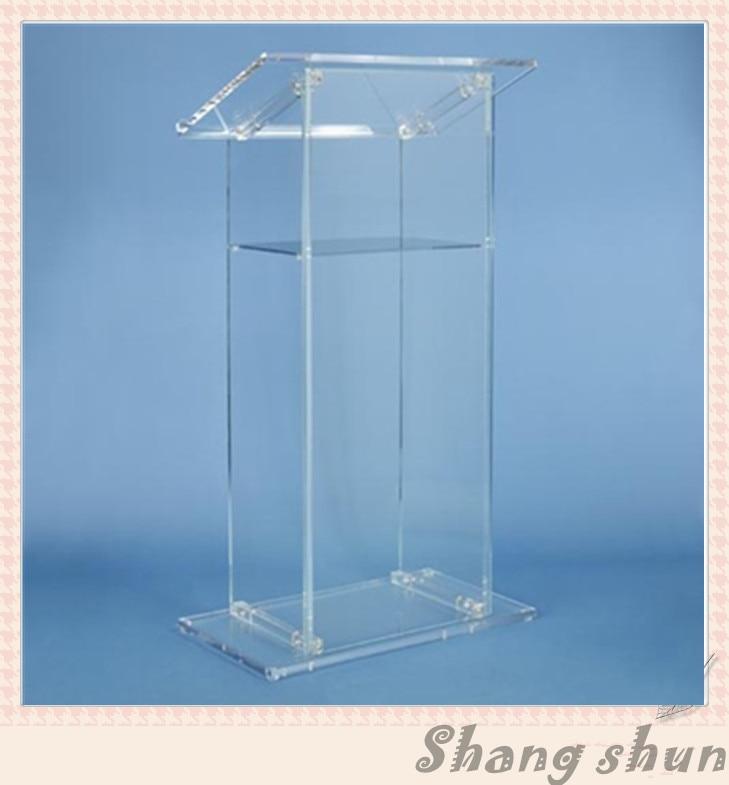 Customized Acrylic Lectern, Clear Acrylic Church Lectern, Clear Acrylic Church Pulpit, Clear Acrylic Church Podium