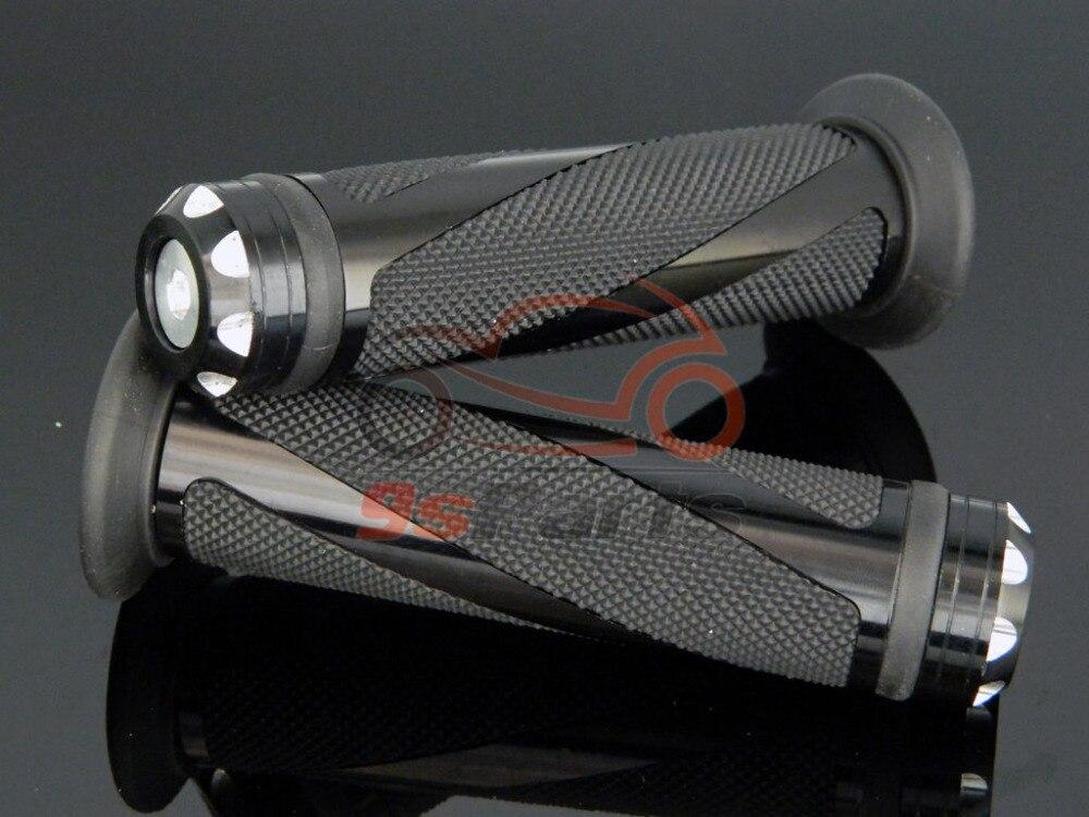 """Черный мотоцикл Мотокросс Байк алюминиевый 7/"""" Руль гель Резина рукоятки Бар Конец для Honda Yamaha Suzuki Kawasaki"""